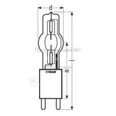 Металлогалогенная одноэлектродная лампа Osram HMI 4000W/SE XS
