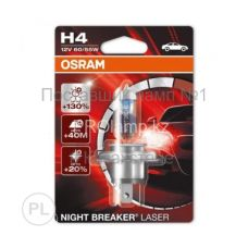 Лампа головного света для автомобиля Osram NIGHT BREAKER LASER 64193NBL-01B H4
