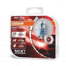 Лампа головного света для автомобиля Osram NIGHT BREAKER LASER 64193NL-HCB DUOBOX H4