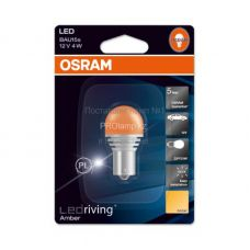 Габаритные огни Osram 7557YE-01B premium P21W оранжевый