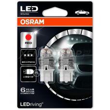 Габаритные огни Osram 7905R-02B premium W21W красный