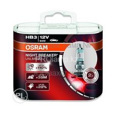 Лампа головного света для автомобиля Osram NIGHT BREAKER UNLIMITED 9005NBU-DUOBOX HB3