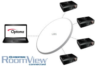 Optoma EX631 Crestron RoomView® - Network Control