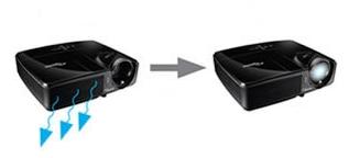 Optoma EX631 Включение и выключение проектора